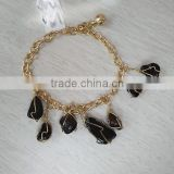 Bracelet, Wire Wrap Glass Beads Wrapped Fashion Bracelet, Bracelet Jewelry Wholesale Yiwu PT2170