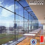 Light Blue tempered low-E glass curtain