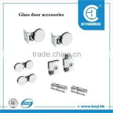 Glass door accessories/frameless glass shower door fitting/glass clamp door lock in South America market