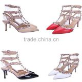 T-strap heels italian shoes manufacturers women pumps summer stiletto party shoes 2015 shoes women