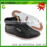 fashion lightweight waterproof middle heel jeans leather boots men