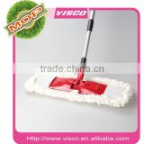 quickly dry micro fiber and ABS flat 45 cm lobby mop with ss telescopic pole