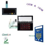 Custom Screen Printing Tactile Buttons Membrane Switch Keypad With LCD Window For Home Applicance