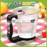 Digital easy life plastic measuring cup weighing scale measuring cup
