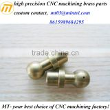 custom high precision CNC machining brass ball head bolt