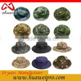 Military Camouflage Bucket Hats Jungle Camo Fisherman Hat with Wide Brim Sun Fishing Bucket Hat Camping Hunting Caps