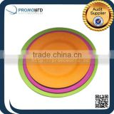 Eco-friendly Bio Bamboo Fiber Dinner Plates Dishes With Bamboo Fiber