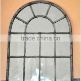 French antique decorative metal window frame wall mirror                                                                         Quality Choice