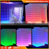 Hot sale! ! ! 2016 LED change inflatable Photo Booth/inflatable photo booth enclosure