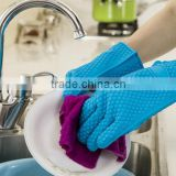 Easy Wash Heat Resistant Silicone Glove Cooking Baking BBQ Oven Pot Holder Mitt Kitchen Tools