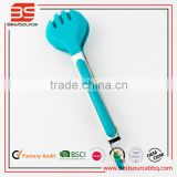 Professional Grade Stainless Steel & Silicone Flatware Tongs for Cooking, wood salad bowl and tong