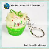 ice cream cartoon gift and souvenir soft pvc felt keychain