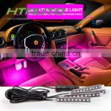 HTAUTO Multi Color Car Led Light 9 Led Chips 12cm Leg Room Light with Remote Invoice Control Japan Led Flash Light