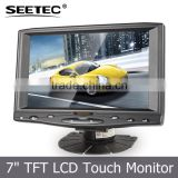 7 inch small touch screen portable standard bracket 1/4-20 hole in the bottom car pc monitor