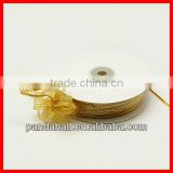 Sparkle Wire Edge Organza Ribbon DIY Material for Fiber Flowers(ORIB-D003-25mm-M)