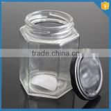 2015 new products! hexagon glass jar china supplier                                                                         Quality Choice