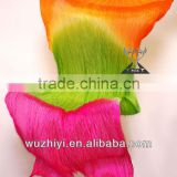 2014 Guangzhou Wuchieal hot belly dance prop silk veil with orange green rose color (DJ 1022)