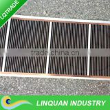 Electric thin film heaters for outside usage