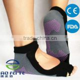 Sport Dance Yoga Comfort Women Non-Slip Half Toe Pilates Ankle Grip Socks