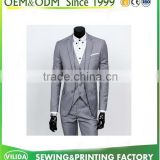 Custom Made Slim Fit Light Grey Groom Tuxedos Notch Lapel Best Man Groomsmen Men Wedding Suits