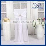 CH025A Hot sale fancy curly willow white decorative tie back chair covers with buckle