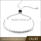OUXI simple style fashion wholesale acrylic platinum charm bracelet jewelry30340