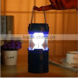 Rechargeable Solar Powered LED Camping Lamp with Flashlight / Solar LED Camping Lamp