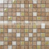 LJ JY-Mx-SC01 Hot Sale Stone Mix Ceramic Mosaic Tiles Kitchen Backsplash Ideas