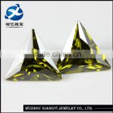 European machine cut olive green cubic zirconia aaa for decoration