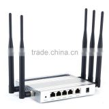 Afoundry Wireless Router Long Range High Power WIFI Router Wireless Internet with Firewall 5x5dBi Antenna Metal Computer Router