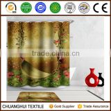 cartoon cardle 3D printed shower curtain for children