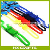 Colorful silicone cable tie /cycling bike Silicone bandage band tie strap mount holder
