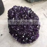 Nature crystal dark amethyst cluster ball for sale