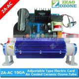 (ZA-AC 10GA) 10g/h air cooling ceramic tube ozone generator, ozonator for water treatment(Manufacturer)