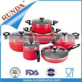 2016 Hot Red Royal Non Stick Cookware Casserole Pot