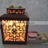 Hot Sale High quality brown metal cutout flowers Electric Aroma burner fragrance lamp/candle warmer