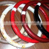 Red Black White Beige Universal Fashinal Design Steering Wheel Cover Car Steering Wheel Cover Various Matierals And Colors
