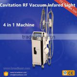 Clinic/salon Cellulite removal ultrasonic vacuum cavitation RF beauty machine with wrinkle remover