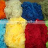 china manufacturer of polyester fiber 1.4d/1.5d 32mm/38mm ,HCS 7d filling and padding recycled polyester staple fiber