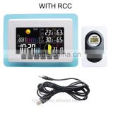 433mhz wireless RF RCC weather station Blue / Weather Station with Digital Clock Barometer thermometer hygrometer