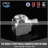 CYCO Metal Corner Nozzle, Gas Cooling Hollow Cone Spray Nozzle, Brass/SS Hollow Cone Nozzle