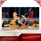 Eco-friendly wine stopper holder rack bamboo wine racks horse shape for house and club red wine holders