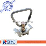 Aluminum Base Single Stud Fitting with Stainless Steel D Ring for L Track
