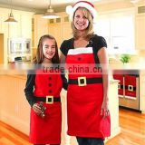 Machine Washable Hostess Gift Work Apron Customized Christmas Apron Polyester Kitchen Apron
