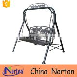 Outdoor custom ruuning horse iron swing bench sale NTIRH-009Y