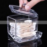 clear Acrylic cotton ball and swab holder case/ cotton ball container
