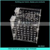 Clear acrylic pet display cage wholesale