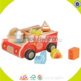 wholesale funny wooden blocks car toy,beautiful wooden blocks car toy,great children wooden blocks car toy W12D023
