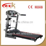 Hot selling strong treadmill fitness 3hp 15% incline 48cm belt 130kg max user weight massager