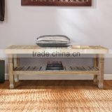 Teak Bench Whitewashed Japan Natural